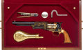"Handguns:Single Action Revolver, Cased ""Sam Houston"" Commemorative Walker Percussion Revolver...."