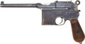 Handguns:Semiautomatic Pistol, Mauser Model 96 Large Ring Hammer Semi-Automatic Pistol withMatching Wood Stock....