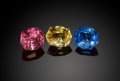 Gems:Faceted, UNUSUAL COLORED SAPPHIRE SUITE - 3.55 CT TW. ...