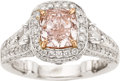 Estate Jewelry:Rings, Fancy Pink Diamond, Diamond, Platinum, Gold Ring, Charles Krypell. ...