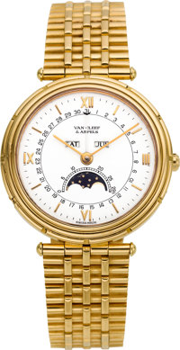 Van Cleef & Arpels Gentleman's Gold Wristwatch, Modern