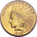 Indian Eagles, 1910-S $10 MS64 PCGS....