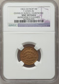 Civil War Merchants, 1863 Charles Busch, Detroit, MI, F-225M-3b, R.8 - ImproperlyCleaned - NGC Details. Unc.. Purchased from James Kelly(5/7/...