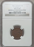 Civil War Merchants, 1863 Randal's Photographic Gallery, Detroit, MI, F-225BG-1a, R.9,MS62 Brown NGC.. From The Clifton A. Temple Collection....