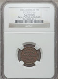 Civil War Merchants, 1863 G.C. Pond, Detroit, MI, F-225BE-1a, R.8 AU50 NGC.. From TheClifton A. Temple Collection....