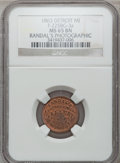 Civil War Merchants, 1863 Randal's Photographic Gallery, Detroit, MI, F-225BG-3a, R.7,MS65 Brown NGC.. From The Clifton A. Temple Collection....