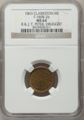Civil War Merchants, 1863 R. & J.T. Peter, Clarkston, MI, F-180B-2b, R.8 MS64 NGC..Purchased from J. Canfield (2/13/1971) for $20.00..Fro...