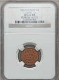 Civil War Merchants, 1864 Perkins Hotel, Detroit, MI, F-225BC-2a, R.9, MS63 Red andBrown NGC.. Purchased from H.E. Wilson (9/24/1940) for 11c...