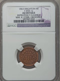 Civil War Merchants, 1863 William R. Cobb, Brighton, MI, F-85B-1a, R.5 - ImproperlyCleaned - NGC Details. AU.. Purchased from H.E. Wilson(9/2...