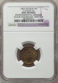 Civil War Merchants, 1863 Jacob Hochstadt, Detroit, MI, F-225AN-2b, R.8 - EnvironmentalDamage - NGC Details. Unc.. Purchased from James Kelly ...