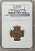 Civil War Merchants, 1863 C.J. Holthofer, Detroit, MI, F-225AO-4b, R.8 - EnvironmentalDamage - NGC Details. Unc.. Purchased from James Kelly (...