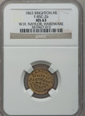 Civil War Merchants, 1863 W.H. Naylor, Brighton, MI, F-85C-2b, R.7, MS63 NGC..Purchased from James Kelly (5/7/1943) for 35 cents.. FromTh...