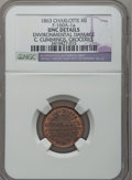 Civil War Merchants, 1863 C. Cummings, Charlotte, MI, F-160A-1a, R.6 - EnvironmentalDamage - NGC Details. Unc.. Purchased from James Kelly(5/...