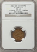 Civil War Merchants, (1861-65) Frisbie's Card, Detroit, MI, F-225AD-1b, R.5, MS64 NGC..From The Clifton A. Temple Collection....