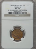 Civil War Merchants, 1863 C. Cummings, Charlotte, MI, F-160A-1b, R.7, MS63 NGC..Purchased from James Kelly (5/7/1943) for 35 cents.. From...