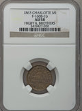 Civil War Merchants, 1863 Higby & Brother, Charlotte, MI, F-160B-1b, R.7, AU58 NGC..Purchased from J. Barnet (9/26/1938) for 50 cents..Fr...