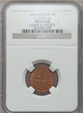 Civil War Merchants, 1864 Lewis & Moses, Detroit, MI, F-225AT-6a, R.9, MS63 Red andBrown NGC.. Purchased from H.E. Wilson (9/24/1940) for 11c...