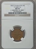 Civil War Merchants, 1863 J. Mikesell, Charlotte, MI, F-160C-1b, R.7, MS64 NGC.. Ex:Thomas L. Elder (5/1940), lot 1463.. From The Clifton...