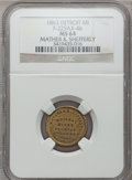 Civil War Merchants, 1863 Mather & Shefferly, Detroit, MI, F-225AX-4b, R.8 MS64NGC.. Purchased from H. Leonard (5/20/1939) for 30 cents.....