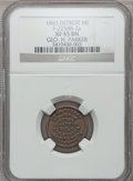 Civil War Merchants, 1863 George H. Parker, Detroit, MI, F-225BB-2a, R.7, XF45 NGC..Purchased from L. Dodd (8/28/1938).. From The Clifton...