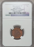 Civil War Merchants, 1863 George H. Parker, Detroit, MI, F-225BB-3a, R.8 - ImproperlyCleaned - NGC Details. Unc.. From The Clifton A. Temple C...