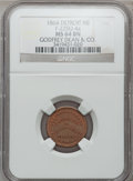 Civil War Merchants, 1864 Godfrey Dean & Co., Detroit, MI, F-225U-4a, R.9, MS64Brown NGC.. Purchased from H.E. Wilson (9/24/1940) for 11cents...