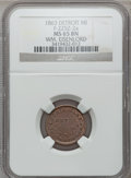 Civil War Merchants, 1863 William Eisenlord, Detroit, MI, F-225Z-2a, R.6, MS65 BrownNGC.. From The Clifton A. Temple Collection....