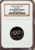 Proof Statehood Quarters, 2006-S 25C Nevada Clad PR70 Ultra Cameo NGC. NGC Census: (0). PCGSPopulation (266). Numismedia Wsl. Price for problem fre...