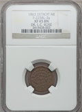Civil War Merchants, 1863 Dr. L.C. Rose, Detroit, MI, F-225BL-2a, R.6, XF45 NGC..From The Clifton A. Temple Collection....