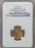 Civil War Merchants, 1863 H.A. Sealy, Detroit, MI, F-225BP-3b, R.8 - EnvironmentalDamage - NGC Details. Unc.. From The Clifton A. TempleColle...