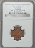Civil War Merchants, 1864 H.A. Sealy, Detroit, MI, F-225BP-4a, R.9, MS63 Red and BrownNGC.. Purchased from H.E. Wilson (9/24/1940) for 11 cent...