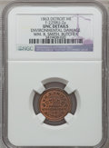Civil War Merchants, 1863 William B. Smith, Detroit, MI, F-225BU-2a, R.7 - EnvironmentalDamage - NGC Details. Unc.. Purchased from James Kelly...