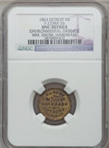 Civil War Merchants, 1863 William Snow, Detroit, MI, F-225BX-2b, R.8 - EnvironmentalDamage - NGC Details. Unc.. Purchased from James Kelly(5/...