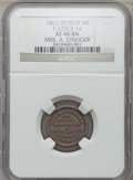 Civil War Merchants, 1863 Mrs. A. Stringer, Detroit, MI, F-225CB-1a, R.7, XF40 NGC..From The Clifton A. Temple Collection....