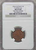 Civil War Merchants, 1864 The Tea Store, Detroit, MI, F-225CE-3a, R.8 MS63 Brown NGC..Purchased from H.E. Wilson (9/24/1940) for 11 cents.. ...