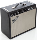 Musical Instruments:Amplifiers, PA, & Effects, 1965 Fender Princeton Reverb Black Guitar Amplifier, Serial # A06368...