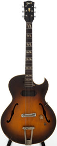 Musical Instruments:Acoustic Guitars, 1951 Gibson ES-175 Sunburst Semi-Hollow Body Electric Guitar,Serial # 7077....