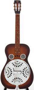 Musical Instruments:Acoustic Guitars, 1980s Dobro Model 63 Sunburst Resonator Guitar, Serial # 14203D....