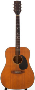 Musical Instruments:Acoustic Guitars, 1974-75 Gibson J-50 Natural Acoustic Guitar, Serial # 628462....