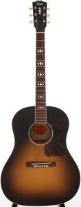Musical Instruments:Acoustic Guitars, 2007 Gibson AJ Birdseye Sunburst Acoustic Guitar, Serial # 00467020....