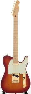 Musical Instruments:Electric Guitars, 2005 Fender Telecaster Custom Cherry Sunburst Solid Body ElectricGuitar, Serial # DZ5079354....