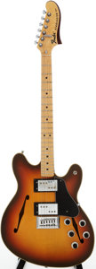 Musical Instruments:Electric Guitars, 1976 Fender Starcaster Sunburst Solid Body Electric Guitar, Serial# 658755....