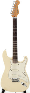 Musical Instruments:Electric Guitars, Circa 1989 Fender Stratocaster White Solid Body Electric Guitar,#E911968....