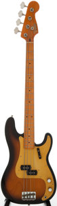 Musical Instruments:Electric Guitars, Circa 1984 Fender Precision Bass Sunburst Electric Bass Guitar, #V 046570....