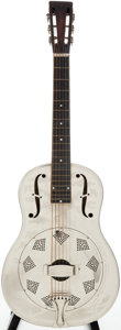 Musical Instruments:Acoustic Guitars, 1930-33 National Style O Nickel Resonator Guitar, Serial #S1424....