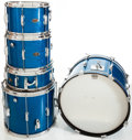 Musical Instruments:Drums & Percussion, 1964/1965 Slingerland Sparkling Blue Pearl 5-Piece Drum Kit....