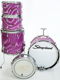 Musical Instruments:Drums & Percussion, 1966/1967 Slingerland Lavender Satin Flame Pearl 5-Piece Drum Kit....