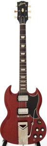 Musical Instruments:Electric Guitars, 1961/1962 Gibson Les Paul SG Cherry solid Body Electric Guitar,Serial # 15251....