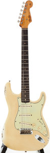 Musical Instruments:Electric Guitars, 1962 Fender Stratocaster Re-Finished White Solid Body ElectricGuitar, Serial # 83544....
