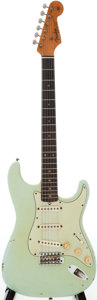 Musical Instruments:Electric Guitars, 1963 Fender Stratocaster Sonic Blue Solid Body Electric Guitar,Serial # L06914....